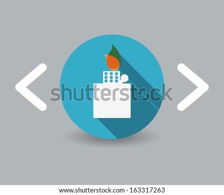 Lighter icon - stock vector