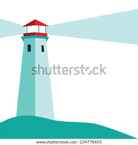 Lighthouse background EPS 10 vector stock illustration - stock vector