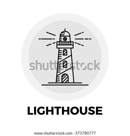 Lighthouse  icon vector. Flat icon isolated on the white background. Vector illustration. - stock vector