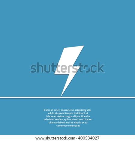 lighting bolt flat vector icon. lighting bolt icon eps. lighting bolt icon jpg. lighting bolt icon sign. lighting bolt icon art. lighting bolt icon drawing. lighting bolt icon design. - stock vector