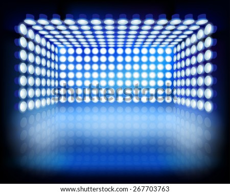 Lighting box. Vector illustration. - stock vector
