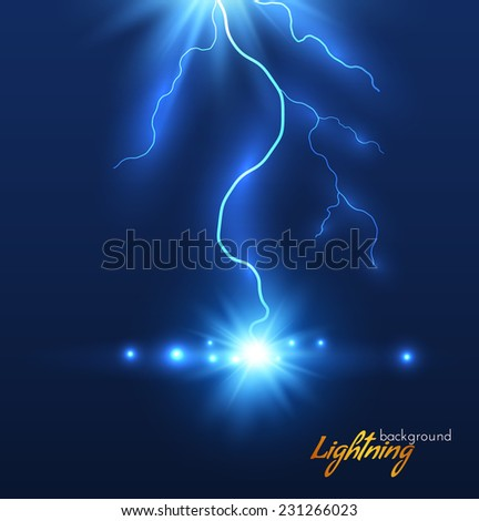 Lightning background. Vector eps10. - stock vector