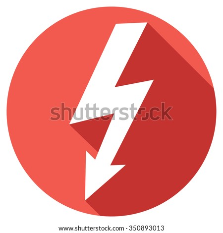 lightning bolt flat icon - stock vector