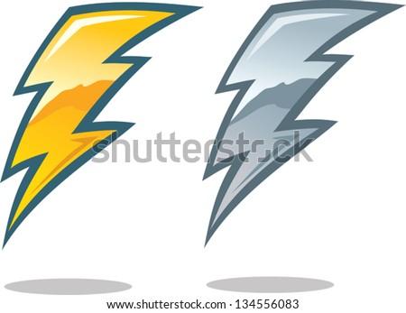 Lightning Bolt Symbol - stock vector