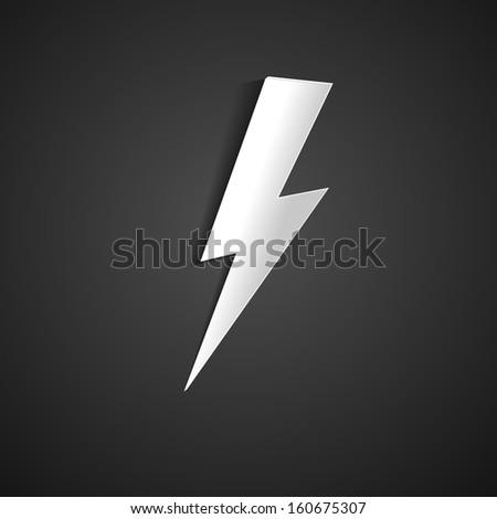 Lightning bolts - stock vector