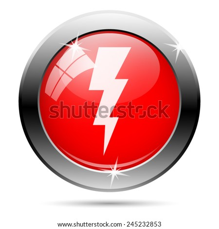 Lightning icon. Internet button on white background.  - stock vector