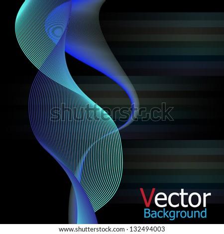 lights in the dark background. - stock vector
