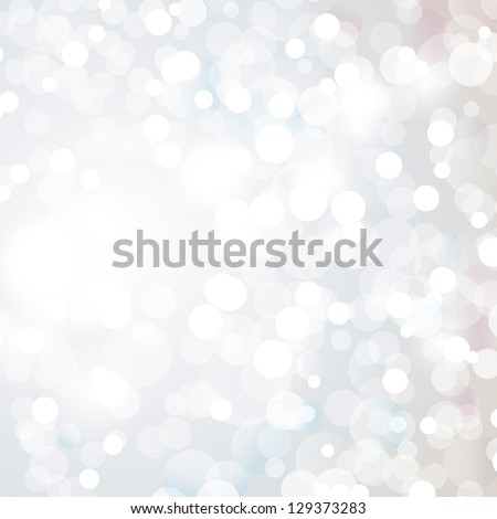 Lights On Silver Background - Vector Illustration, Graphic Design Useful For Your Design. Bright Silver Abstract Christmas Background With White Snowflakes - stock vector