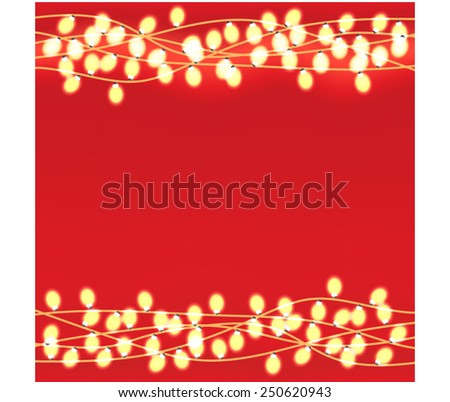 Lights Wreath - stock vector