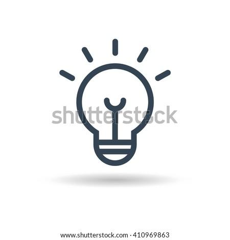 Ligth Lamp icon vector. Vector illustration eps10. - stock vector