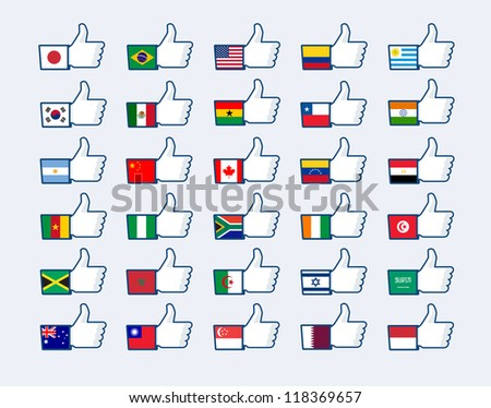 Like Button - stock vector