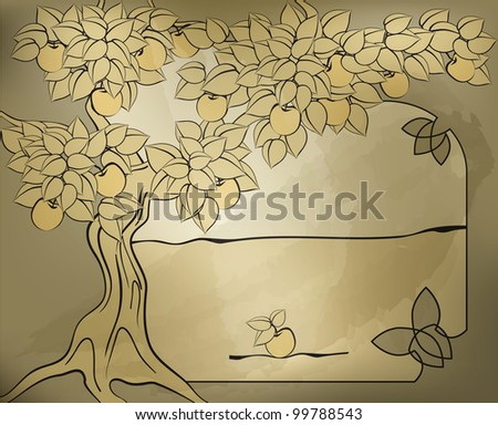 like father like son; like master like man; the apple does not fall far from the tree. eps10 for grange effect was used default  illustrator brushes - stock vector