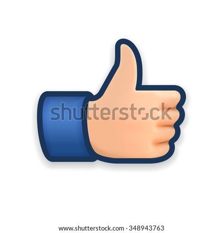 Like icon, emoji thumb up symbol, vector illustration. - stock vector