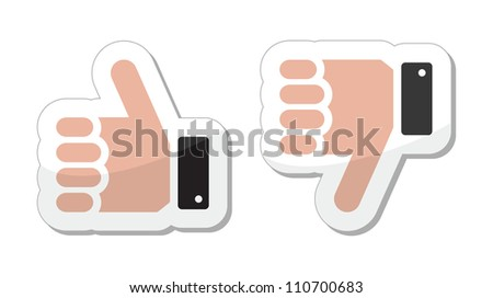 Like it Unlike buttons / labels - stock vector