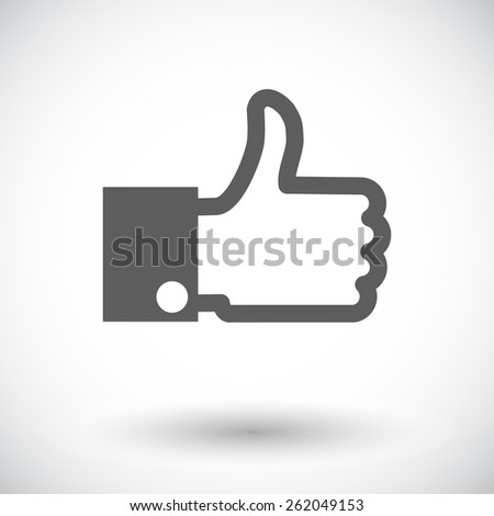 Like. Single flat icon on white background. Vector illustration. - stock vector