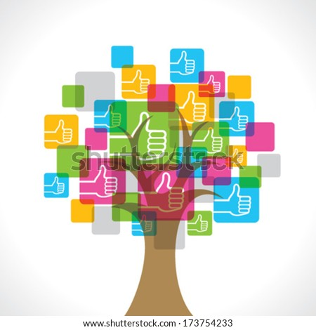 Like symbol make a tree stock vector - stock vector