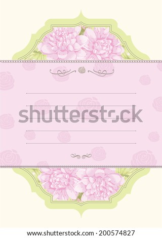 Lily card design - stock vector