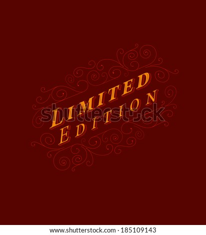 Limited Edition Lettering Poster - stock vector