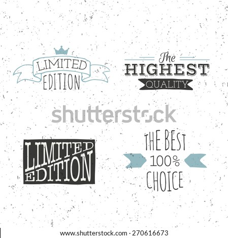 Limited edition poster and best choice.  - stock vector