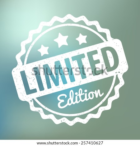 Limited Edition rubber stamp award vector on bokeh background - stock vector
