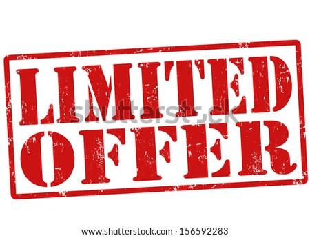 Limited offer grunge rubber stamp on white, vector illustration - stock vector