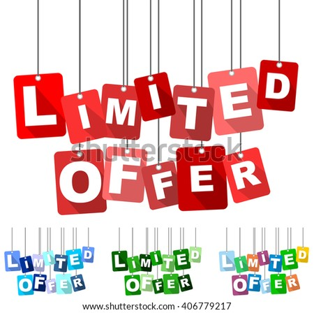 limited offer, red vector limited offer, flat tag limited offer, set tags limited offer, element limited offer, sign limited offer, design limited offer, background limited offer, limited offer eps10 - stock vector
