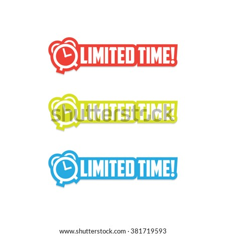 Limited Time Stickers - stock vector