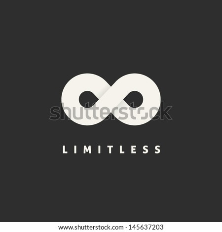Limitless symbol icon or logo - stock vector