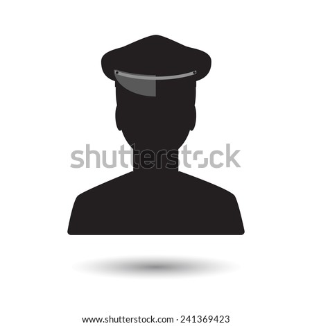Limo driver silhouette. Limousine driver icon. Vector illustration - stock vector