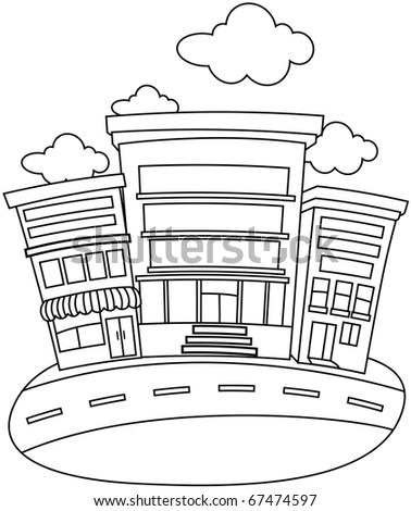 city buildings coloring pages a street coloring page