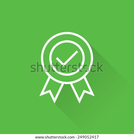 Line Certified Seal Icon - stock vector