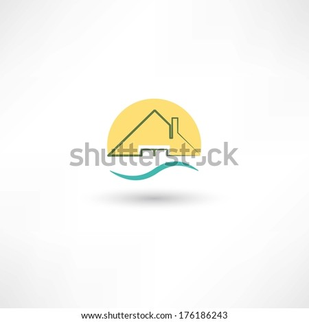 Line house - stock vector