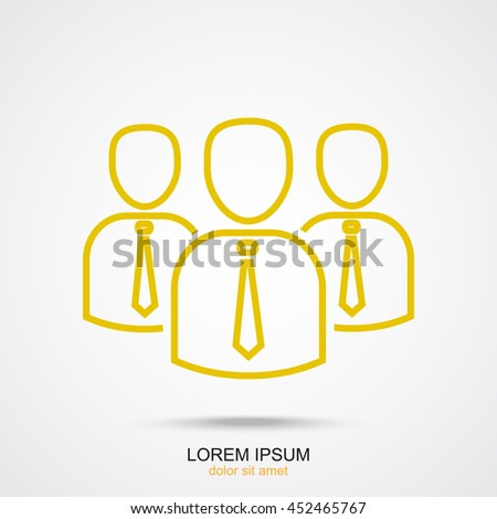 Line icon- business group - stock vector