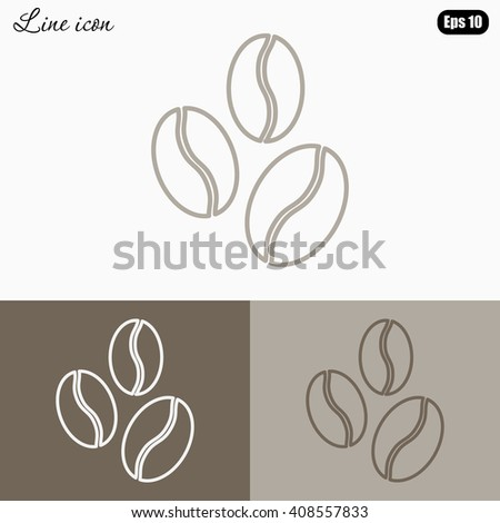 Line icon-  coffee beans - stock vector