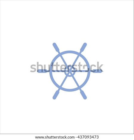 Line icon rudder - stock vector
