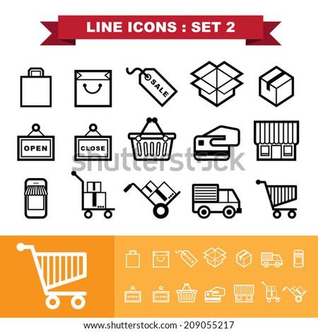 Line icons set 2 .Illustration eps 10 - stock vector
