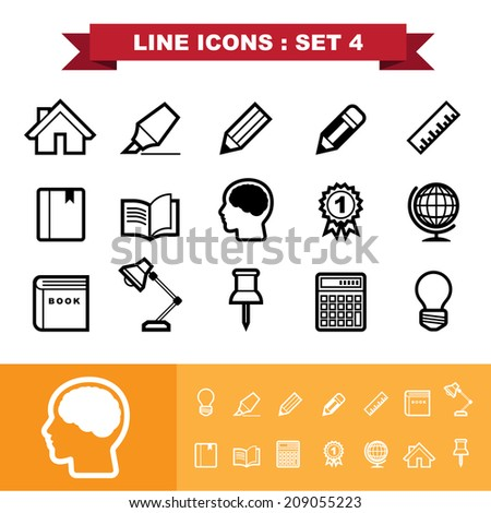 Line icons set 4 .Illustration eps 10 - stock vector