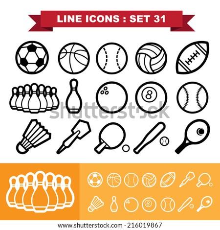 Line icons set 31 .Illustration eps 10 - stock vector