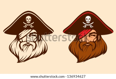 Pirate face vector - photo#15