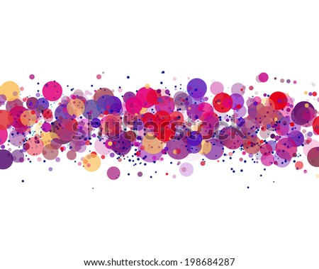 line of colors circles with different transparency. vector blank - stock vector