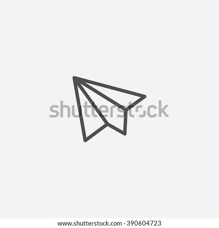 line paper plane Icon - stock vector