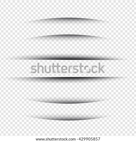 Line Shadow - Website Design Elements on Isolated Background - stock vector
