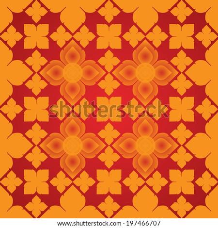 Line Thai art Vector artistic of traditional line thai. - stock vector