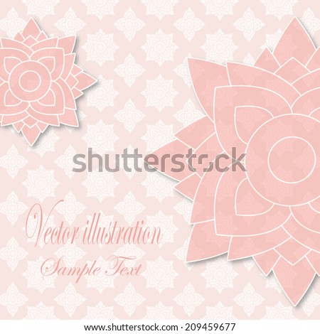 Line thai  pattern vector illustration vintage style  & text card   - stock vector