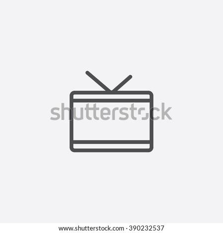 line tv Icon - stock vector