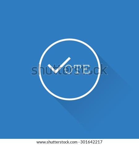 Line Vote Button - stock vector