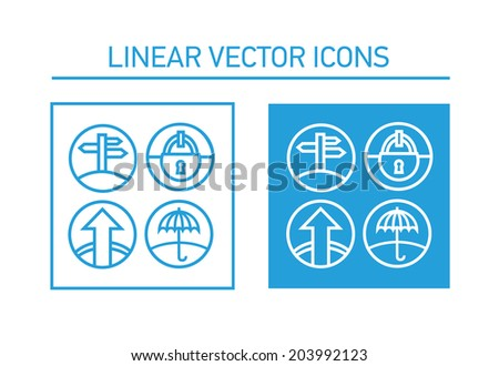 line will indicate the road and protection - stock vector