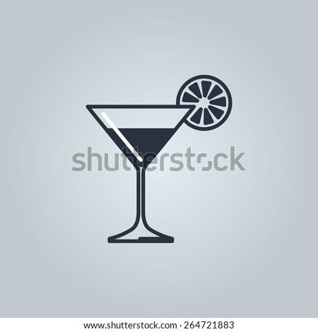 Linear icon of martini  - stock vector