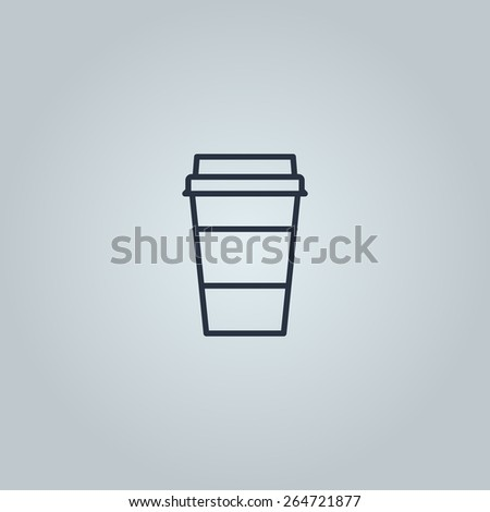 Linear icon of take away coffee  - stock vector