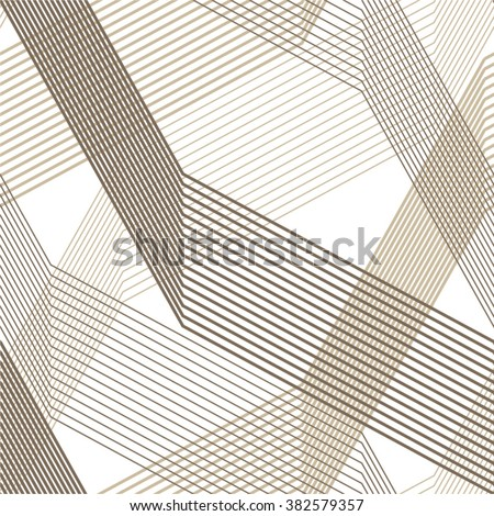 Linear pattern, seamless vector background. - stock vector